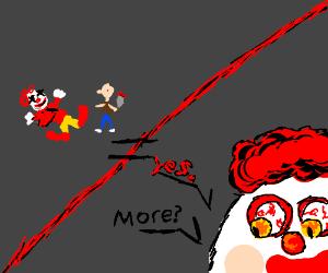 If you kill a clown you get more clownsInstea