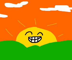 The happiest sunset