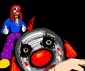 Clown watchesandlikes as other clown gets kill