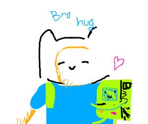 Finn hugs BMO