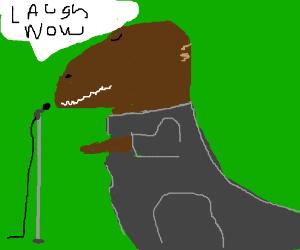 T-rex is furry