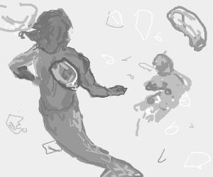 Mermaid-Man lost Barnacle-Boy