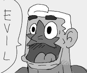 mermaid man saying eeeevil (from spongebob)