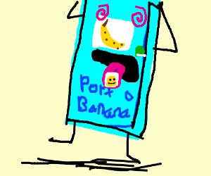 Banana bathroom drugged by LSD