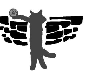 Cat version of the Air Jordans logo