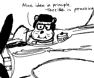 Old pilot Pooh Bear discusses communism