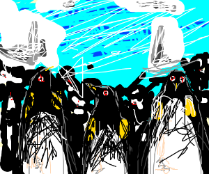 The penguin army will take over the world!