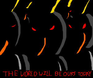 Penguin army: world domination plan