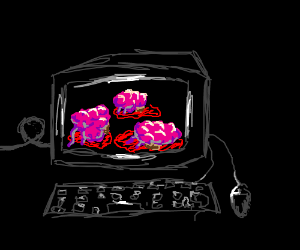 Computer full of brains
