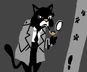 To do: cat detective, pipe, magnifying glass