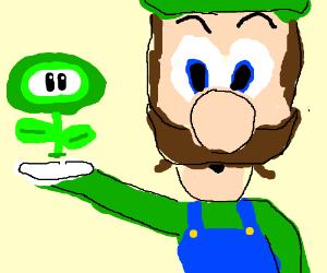 Fire Flower is green for Luigi