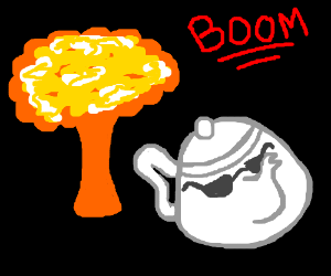 cool teapot doesn't look back at explosions