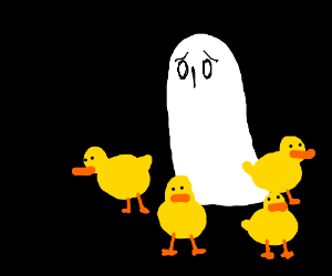 Ducks will keep the ghost safe