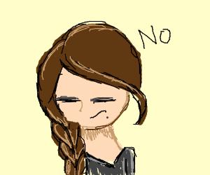 Katniss is too emo to shoot