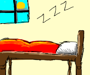 i love sleep but i go to bed at midday