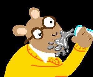 Arthur (Aardvark) drinks liquid gallium.