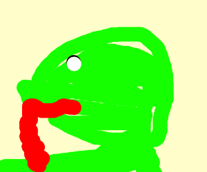 frog with a long long tounge