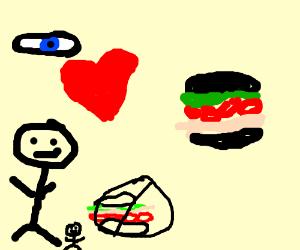 I love giant sandwiches.
