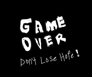 UNDERTALE Game Over Screen