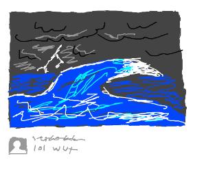 A storm at sea? LOL!