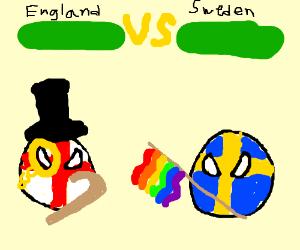 England VS Sweden, MUGEN style