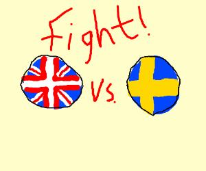 UK Sweden fight!