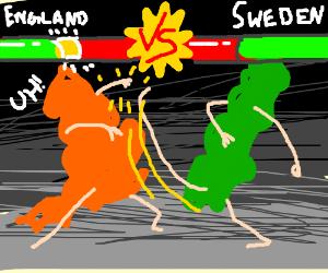 England vs Sweden MORTAL COMBAT