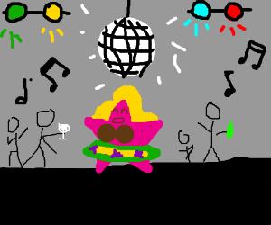 Female Patrick Star has a rave