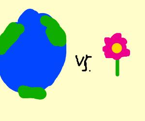 earth Vs flower