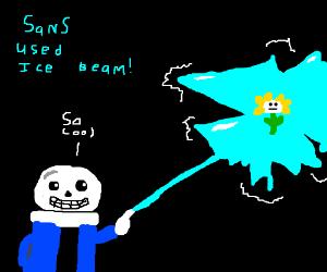 Sans used Ice Beam!