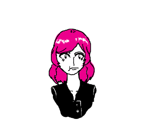 Pink-haired girl.