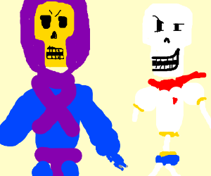 skeletor meets papyrus - Drawception