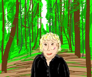 Bette Midler enjoying nature