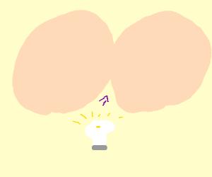 lightbulb in butt