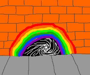 Swirling Rainbow Portal
