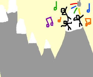 Dancing on a mountain