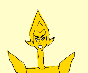 yellow diamond from SU w/ a long neck