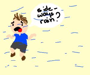 Sideways rain !?