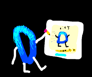 Drawception D playing a game of Drawception