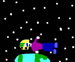 Commander Keen runs to orbit