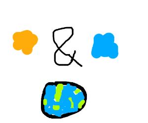 orange and blue earth
