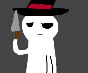 Gray face Dinkleburg is possesed w/ knife