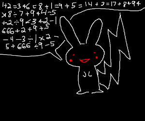 Dark Pikachu speaks of evil math