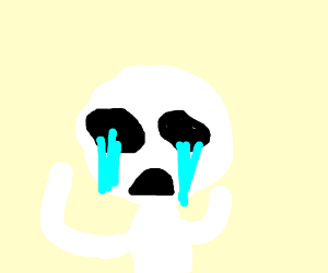 Someone crying a lot