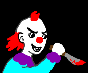 A killer clown is striking again !