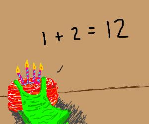 Beefcake in tanktop can't do simple math