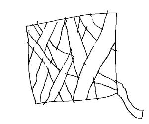 Oddly shaped ball of yarn