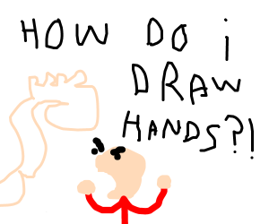 The life struggle to draw hands