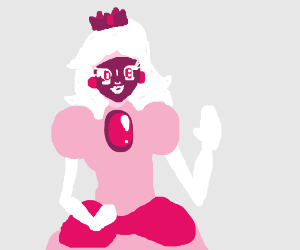 Princess Peach... in blackface