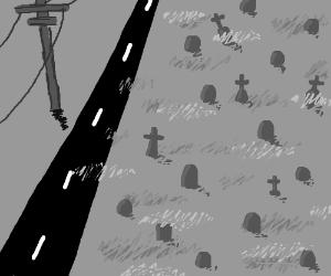 graveyard by highway